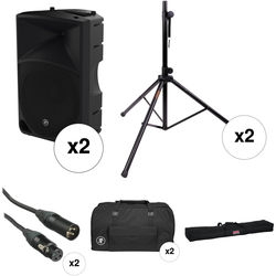 "Mackie Dual Thump15 1000 W 15"" Powered Loudspeaker PA System Kit"