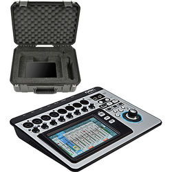 QSC TouchMix-8 Compact Digital Mixer with Watertight Road Case Kit