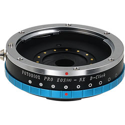 FotodioX Pro Lens Adapter with De-Clicked Iris for Canon EF Lenses to Samsung NX Cameras