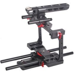 CAME-TV BMCC-01 Rig with Top Handle Dovetail Plate & 15mm Rods Kit for Blackmagic Cinema