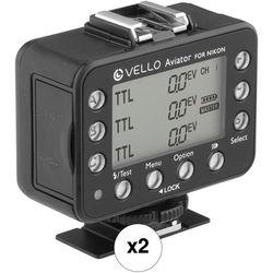 Vello FreeWave Aviator Wireless Flash Trigger 2-Transceiver Kit for Nikon