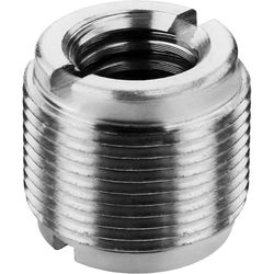 "Auray 5/8"" Male to 3/8"" & 1/4""-20 Female Combo Reversible Thread Adapter (Steel)"