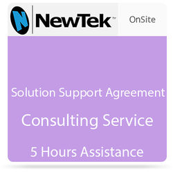 NewTek Solution Support Agreement Consulting Service (5 Hours Assistance)