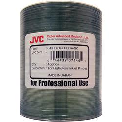 JVC 52x Printable Inkjet CD-R (White, Roll Wrap Pack of 100)