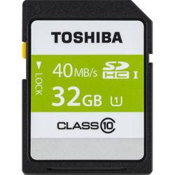 Toshiba 32GB UHS-I SDHC Memory Card (Class 10)