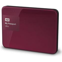 WD 1TB My Passport Ultra USB 3.0 Secure Portable Hard Drive (Berry)