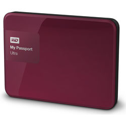 WD 2TB My Passport Ultra USB 3.0 Secure Portable Hard Drive (Berry)