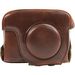 MegaGear MG178 Ever Ready Leather Case for Canon PowerShot G15 (Dark Brown)