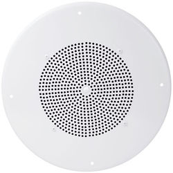 Speco Technologies 86 Series G86TCG 70/25V Classic Grille In-Ceiling Contractor Speaker with Volume Control Knob (Off-White)