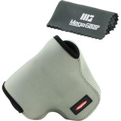 MegaGear MG453 Ultra Light Neoprene Camera Case for Canon PowerShot SX60 (Gray)
