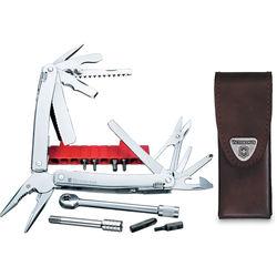 Victorinox SwissTool Spirit Plus Ratchet Multi-Tool with Leather Pouch