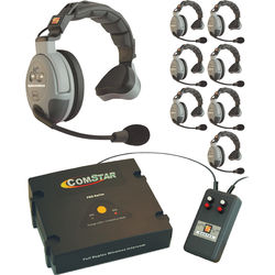 Eartec XT-Plus Com-Center with Interface and ComStar Single-Ear Headsets (8 Users)