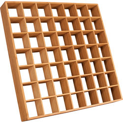 "Auralex Sustain Lens - Bamboo Sound Diffusor for Ceiling Grid Mounting (3 x 23.75 x 23.75"", Pair)"