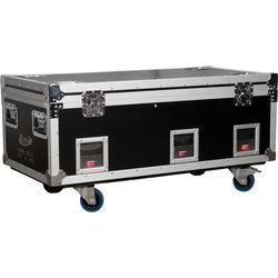 Elation Professional VOL106 Q5E Six Pack Charging Road Case with Six Volt Q5E LED Fixtures