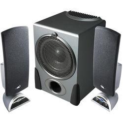 Cyber Acoustics CA-3550 32W 2.1-Channel Multimedia Speaker System (Black)
