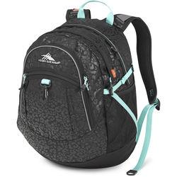High Sierra Fatboy Revamp Backpack (Leopard / Black / Aqua)