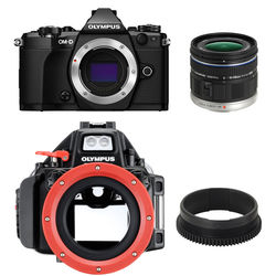 Olympus E-M5 Mark II Digital Camera Underwater Bundle with 9-18mm Lens and PT-EP13 Housing