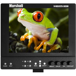 "Marshall Electronics 6.5"" On-Camera Monitor with 3G-SDI & BP-900 Series Type Battery Mount"