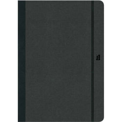 "Prat Flexbook Notebook with 192 Blank Pages (Black, 6.75 x 9.5"")"