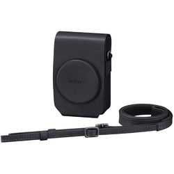 Sony Vertical Soft Carrying Case for Cyber-shot RX100, RX100II (Black)