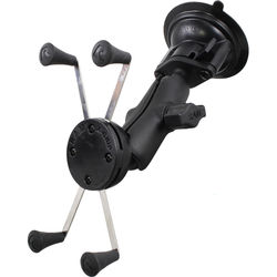 RAM MOUNTS Twist Lock Suction Cup Mount with Universal X-Grip IV Holder for Large Phones/Phablets