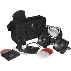Zylight F8-D 100 LED Fresnel Dual Head ENG Kit with Gold Mount