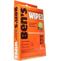 Adventure Medical Kits Ben's 30 Tick & Insect Repellent Wipes (12-Pack)