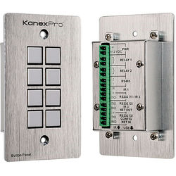 KanexPro WP-CONTROLS Wall Plate Control Panel for A/V Devices (Silver)