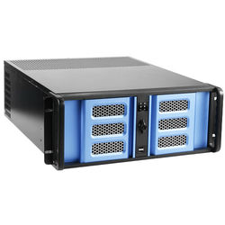 iStarUSA D-400SE 4U Compact Rackmount Chassis (Blue Bezel)