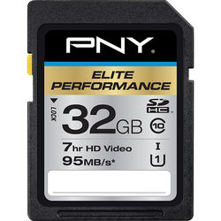 PNY Technologies 32GB Elite Performance UHS-1 SDHC Memory Card (U1, Class 10)