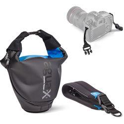 miggo Agua 35 Stormproof Holster for Medium DSLR Cameras (Black-Blue)