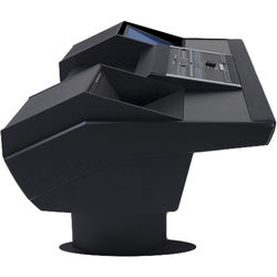 Argosy G22 Desk for Nucleus Workstation with 6 RU and Monitor Bay (Black Finish, Black Legs)