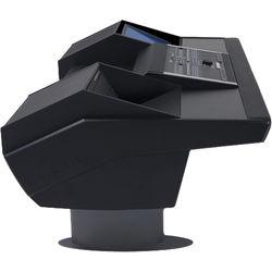 Argosy G22 Desk for Nucleus Workstation with 6 RU and Monitor Bay (Black Finish, Gunmetal Grey Legs)