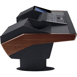 Argosy G22 Desk for Nucleus Workstation with 6 RU and Monitor Bay (Mahogany Finish, Black Legs)