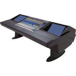 Argosy G25 Desk for Presonus StudioLive 32.4.2AI Workstation with Two Monitor Racks (Black Finish, Black Legs)