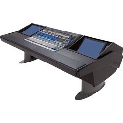 Argosy G25 Desk for Presonus StudioLive 32.4.2AI Workstation with Two Monitor Racks (Black Finish, Gunmetal Gray Legs)