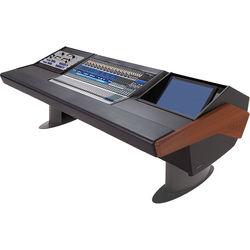 Argosy G25 Desk for Presonus StudioLive 32.4.2AI Workstation with 9 RU and Monitor Rack (Mahogany Finish, Gunmetal Gray Legs)