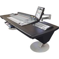 Argosy Mirage Desk for Solid State Logic AWS 900+ / AWS 924 / AWS 948 Workstation with Dual 6 RU Rack Modules (Black)
