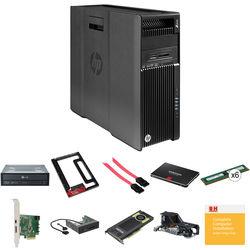 HP HP Z640 Series F1M61UT Workstation Kit with two Xeon CPUs, 64GB RAM, 1.256TB Storage, Blu-ray Burner, & Quadro K4200