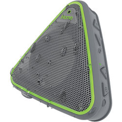 iHome iBT3 Splashproof Wireless Bluetooth Speaker with Speakerphone (Gray/Green)