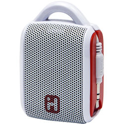 iHome iM54 Rechargeable Mini Speaker (White/Red)