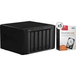 Synology DiskStation DS1515+ 20TB (5 x 4TB) 5-Bay NAS Server Kit