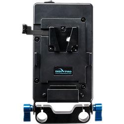 IndiPRO Tools 15mm Rod Mount Universal V-Mount Battery Plate Kit