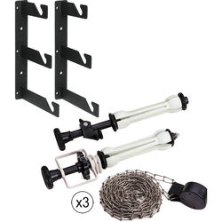 Impact Wall Mounting Kit with Metal Chain for Roll Paper