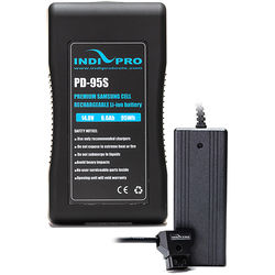 IndiPRO Tools 14.8V 95Wh Lithium-Ion Battery & Pro Charger Kit (V-Mount)