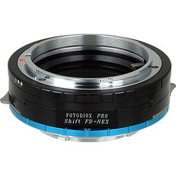 FotodioX Pro Lens Mount Shift Adapter for Canon FD-Mount Lens to Sony E-Mount APS-C Camera