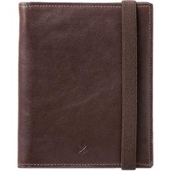 Barber Shop Fringe Leather Passport and Memory Card Holder (Dark Brown)