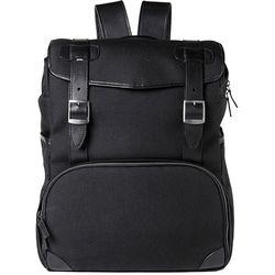 Barber Shop Mop Top Camera Backpack (Cordura & Leather, Black)