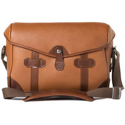 Barber Shop Small Messenger Pageboy Camera Bag (Brown Grained Leather)