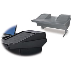 "Argosy 70-70V2R Universal Workstation Desk with 25"" Flat Desk Insert and Two VR1503 Front 15 RU & Rear 3 RU (Black)"